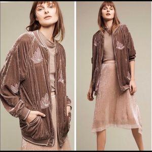 Anthropologie Jackets & Coats - Velvet Bomber Jacket - new with tag